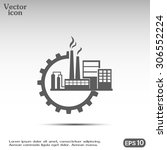 industrial icon | Shutterstock .eps vector #306552224
