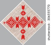 elegant traditional folk... | Shutterstock . vector #306555770