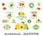 vector vegetables logos  label... | Shutterstock .eps vector #306559598