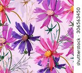 flowers  seamless pattern  | Shutterstock . vector #306563450