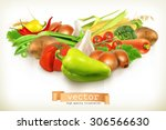 harvest juicy and ripe... | Shutterstock .eps vector #306566630