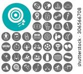 mega sport icon set. vector... | Shutterstock .eps vector #306566708