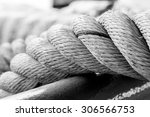 Rope With Black And White Tone.