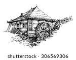 Watermill Hand Drawn Artistic...