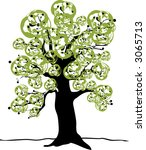 retro tree | Shutterstock .eps vector #3065713