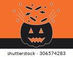 halloween vector illustration ... | Shutterstock .eps vector #306574283