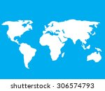 map of the world vector... | Shutterstock .eps vector #306574793
