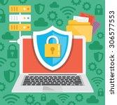 data protection  internet... | Shutterstock .eps vector #306577553