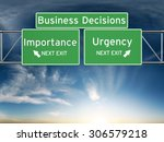 business decision making... | Shutterstock . vector #306579218