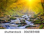 landscape magic river in autumn ... | Shutterstock . vector #306585488