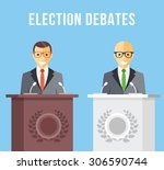 election debates  dispute ... | Shutterstock .eps vector #306590744