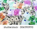 Dollars And Euro Close Up...