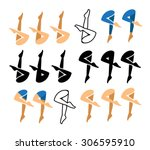 synchronized swimming icon and... | Shutterstock .eps vector #306595910