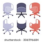 set of the isometric office... | Shutterstock . vector #306596684