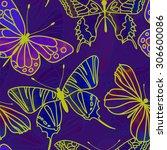 vector seamless watercolor... | Shutterstock .eps vector #306600086