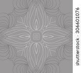 circular   pattern of delicate... | Shutterstock .eps vector #306601076