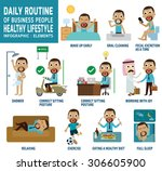 Daily Routine Of Happy Busines...