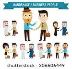 shaking hand.  businessman... | Shutterstock .eps vector #306606449
