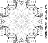 circular   pattern of delicate... | Shutterstock . vector #306607196