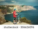 male and female cyclists in... | Shutterstock . vector #306626096