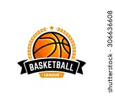 vector basketball league logo... | Shutterstock .eps vector #306636608