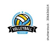 vector volleyball league logo... | Shutterstock .eps vector #306636614