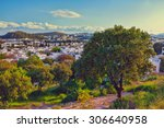touristic place bodrum town in... | Shutterstock . vector #306640958