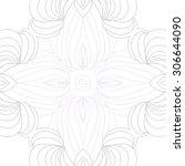 circular   pattern of delicate... | Shutterstock .eps vector #306644090
