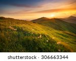 Mountain Field During Sunset....