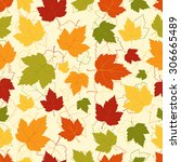 seamless pattern with colorful... | Shutterstock .eps vector #306665489