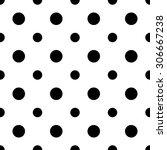 seamless geometric black and... | Shutterstock . vector #306667238