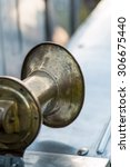 Small photo of vintage car detail - air horn