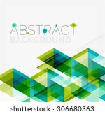 abstract geometric background.... | Shutterstock .eps vector #306680363