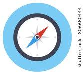 compass icon  modern minimal... | Shutterstock .eps vector #306680444
