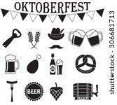 octoberfest icon set. german... | Shutterstock .eps vector #306681713