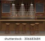 bar cafe beer cafeteria counter ... | Shutterstock .eps vector #306683684