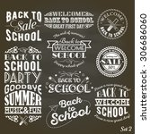 back to school design... | Shutterstock .eps vector #306686060