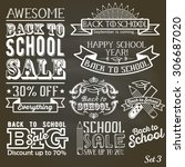 back to school calligraphic... | Shutterstock .eps vector #306687020