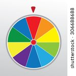 vector illustration of a wheel... | Shutterstock .eps vector #306688688