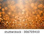Small photo of Abstract Halloween or Thanksgiving glitter sparkle orange and black background party invitation