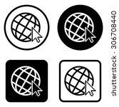 internet     vector icon | Shutterstock .eps vector #306708440