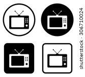 tv    vector icon | Shutterstock .eps vector #306710024