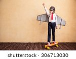 portrait of young businessman... | Shutterstock . vector #306713030