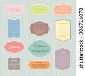 vector of vintage frame set on... | Shutterstock .eps vector #306716078