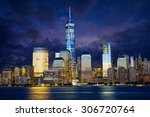 Manhattan Skyline At Dusk  New...