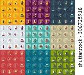 flat concept  set modern design ... | Shutterstock .eps vector #306725918