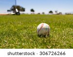 baseball at a baseball field by ... | Shutterstock . vector #306726266