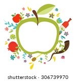 greeting card design for jewish ... | Shutterstock .eps vector #306739970