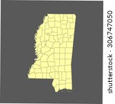 map of mississippi | Shutterstock .eps vector #306747050