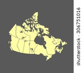 map of canada | Shutterstock .eps vector #306751016